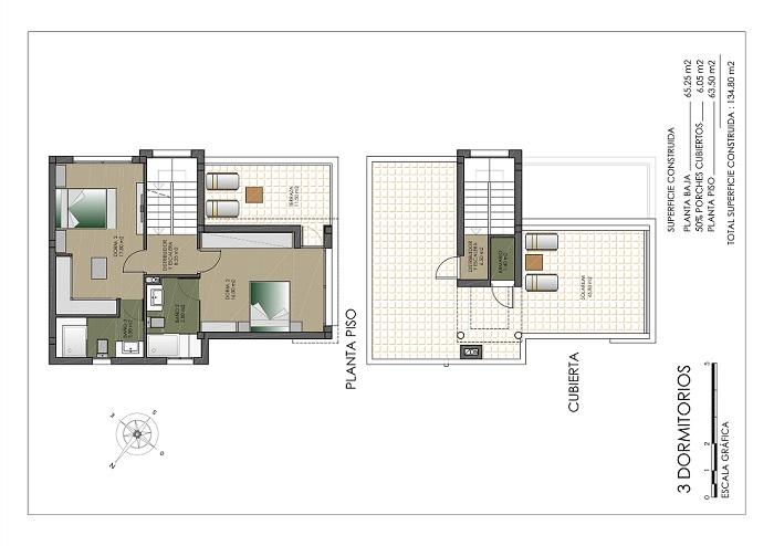 2 slaapkamers boven klein