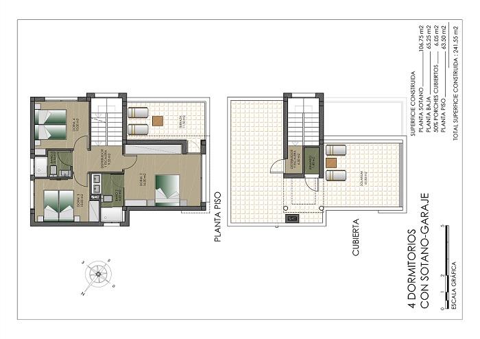 3 slaapkamer boven klein